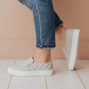 Quilted Grey slip on sneaker